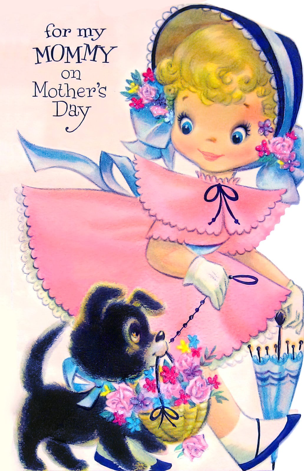Vintage card - For my mommy on Mother's Day (1950s/1960s)