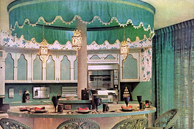 Vintage carousel kitchen islend decorating idea