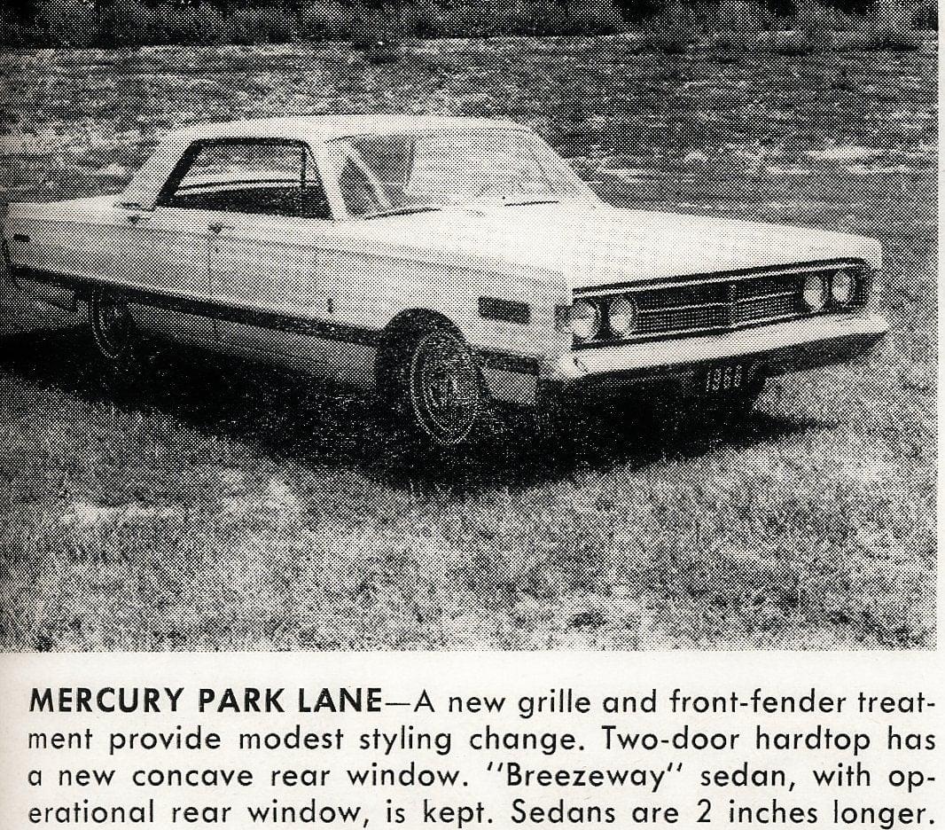 Vintage cars -- Mercury Park Lane (1965)