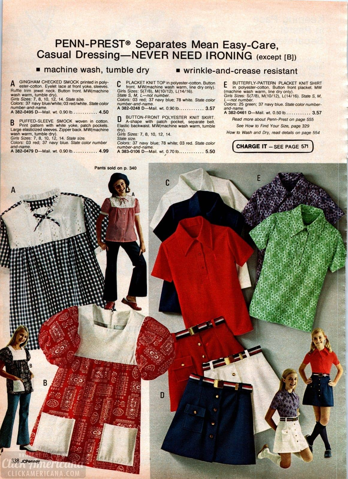 Vintage casual clothes for girls - gingham checks and puffed-sleeve smocks
