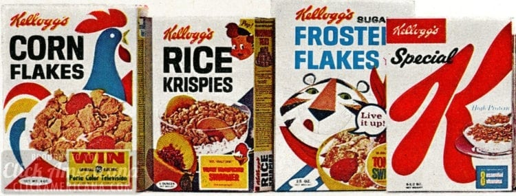 Vintage cereals - 1967 - Kellogg's Frosted Flakes and Special K
