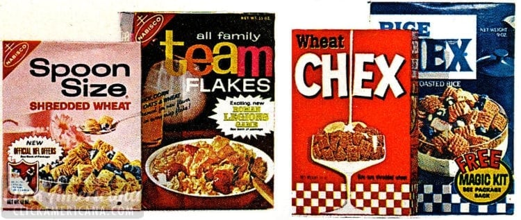 Vintage cereals from 1967 -Nabisco and Ralston brands