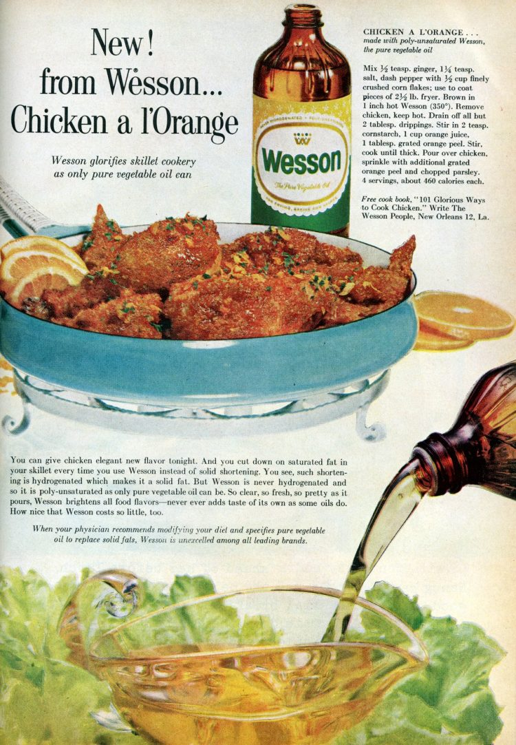 Vintage chicken a l'orange recipe