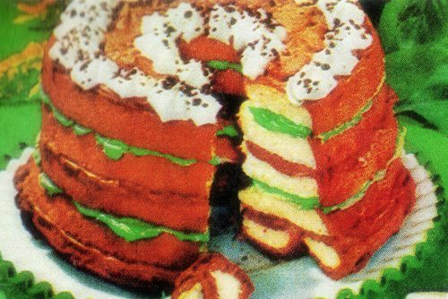 Vintage choco-mint party cake frosting recipe (1967)