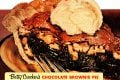 Vintage chocolate brownie pie recipe - Food from 1953-001