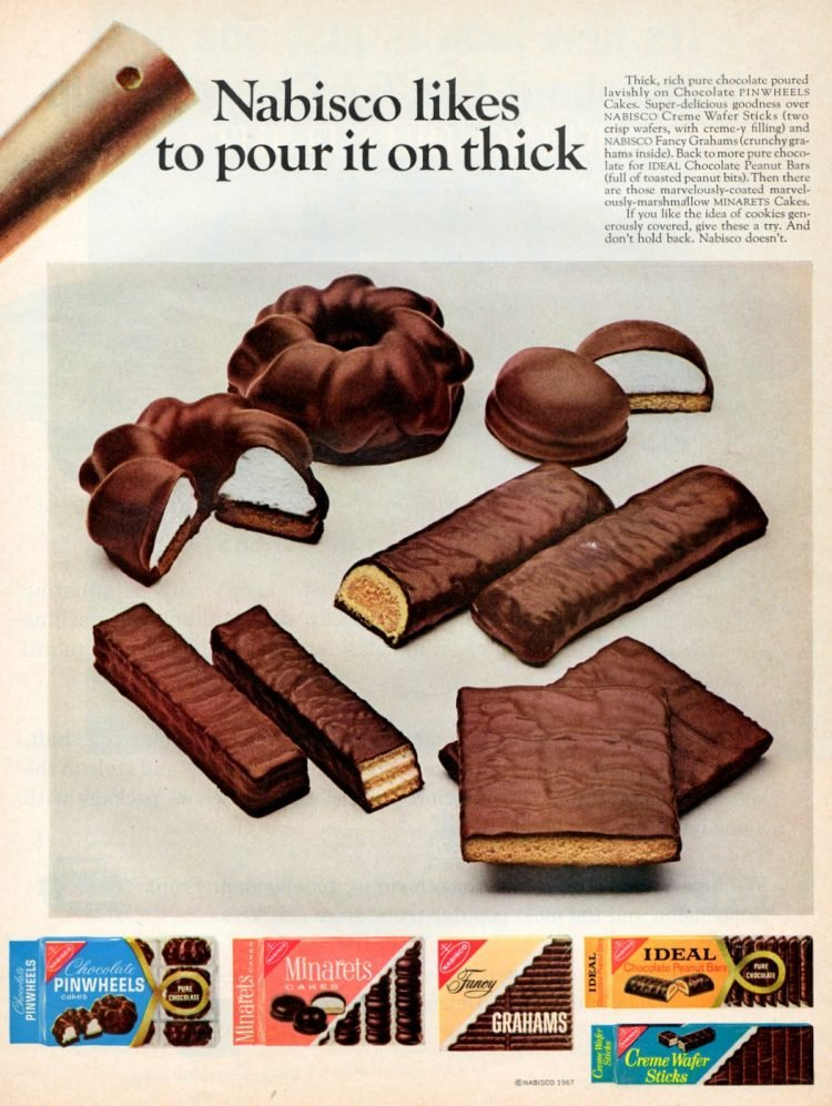 Vintage chocolate-covered Nabisco cookies (1967)