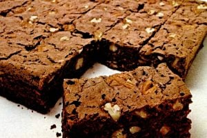 Vintage chocolate pudding brownies recipe from 1968