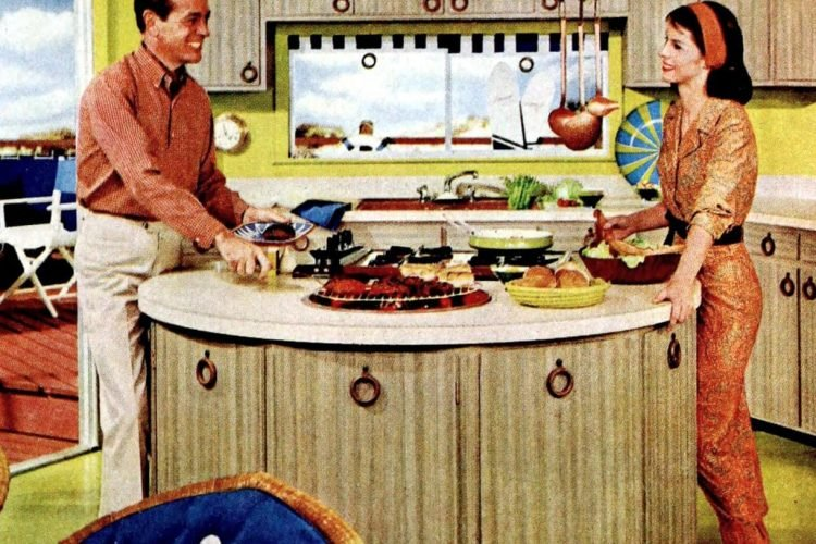 Vintage circular kitchen island design from 196