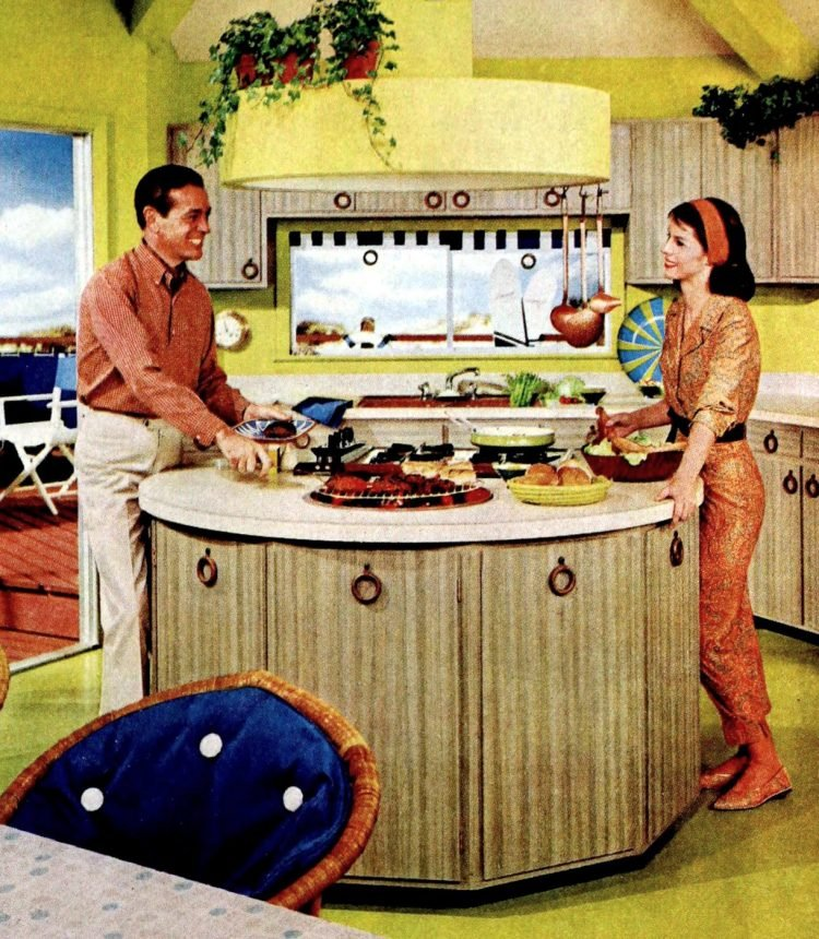 Vintage circular kitchen island design from 196