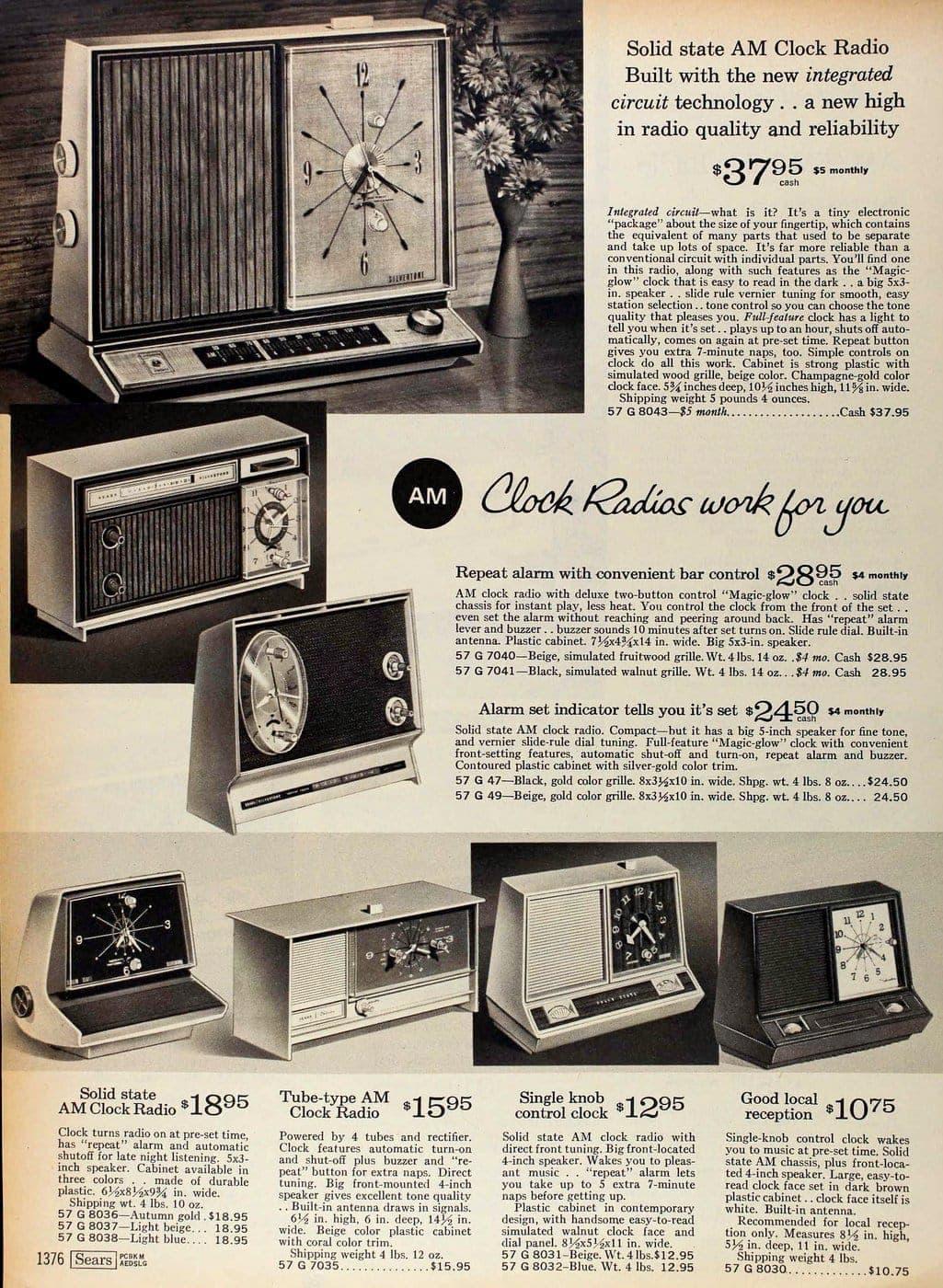Vintage clock radios from 1967 (1)