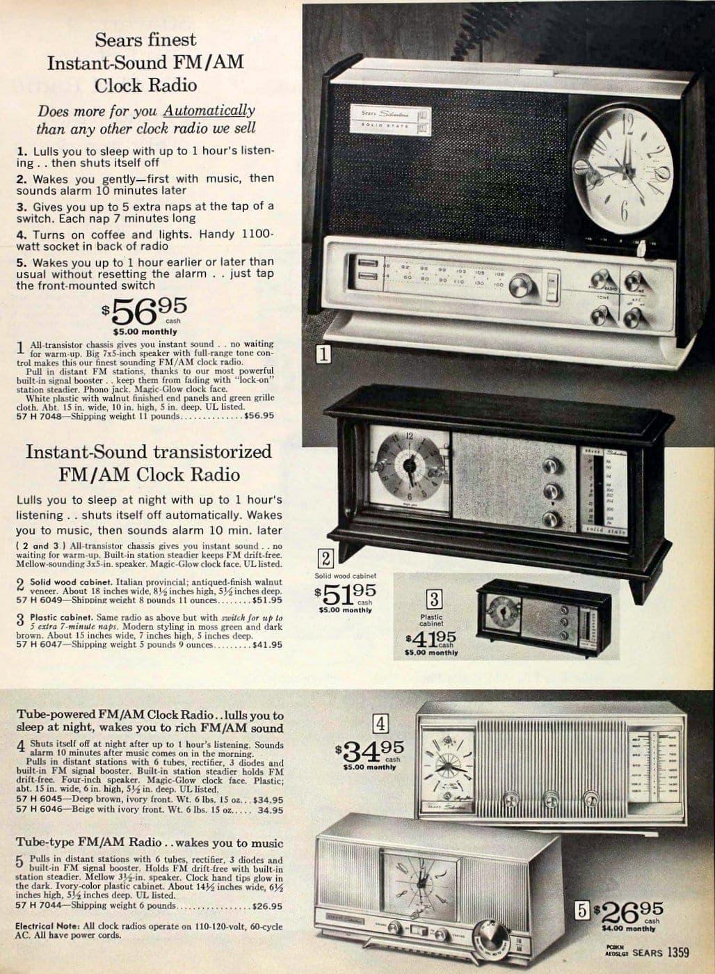 Vintage clock radios from 1967 (2)