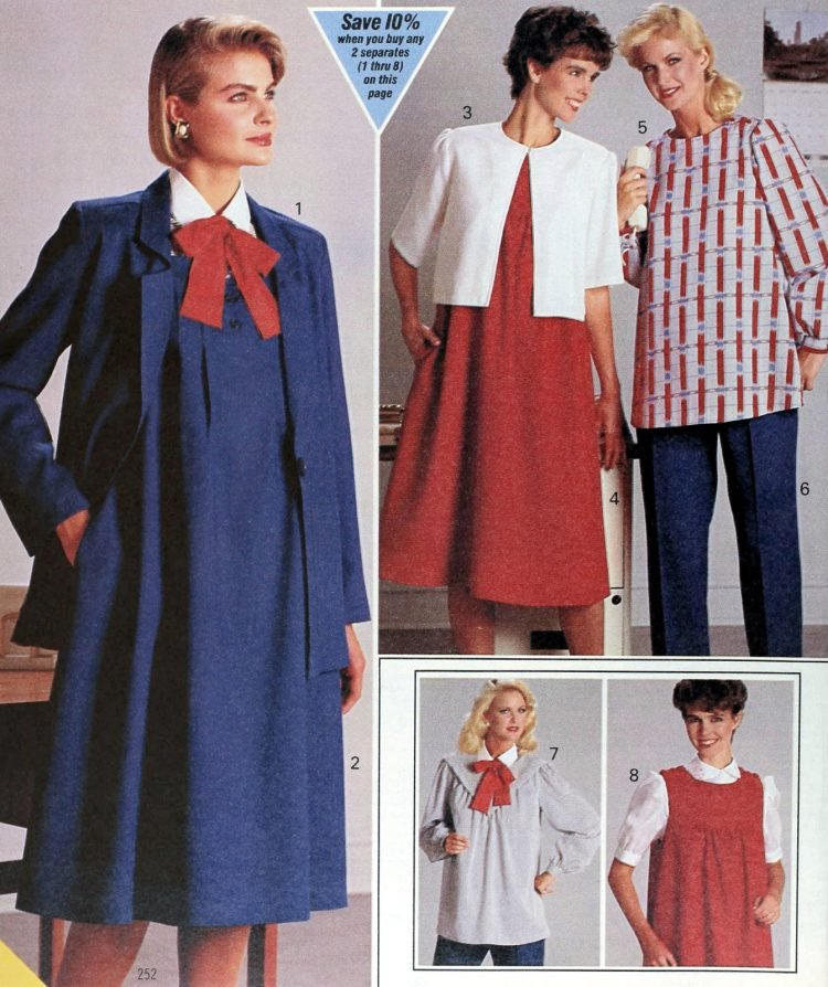 Vintage clothes for pregnant women - 1980s maternity fashion (2)