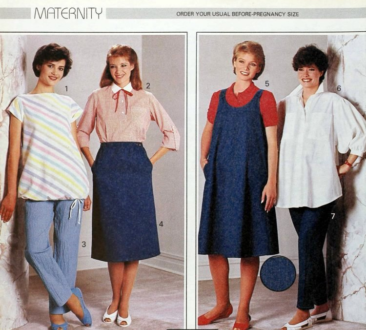 Vintage clothes for pregnant women - 1980s maternity fashion (3)