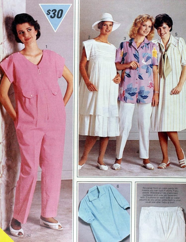 Vintage clothes for pregnant women - 1980s maternity fashion (4)