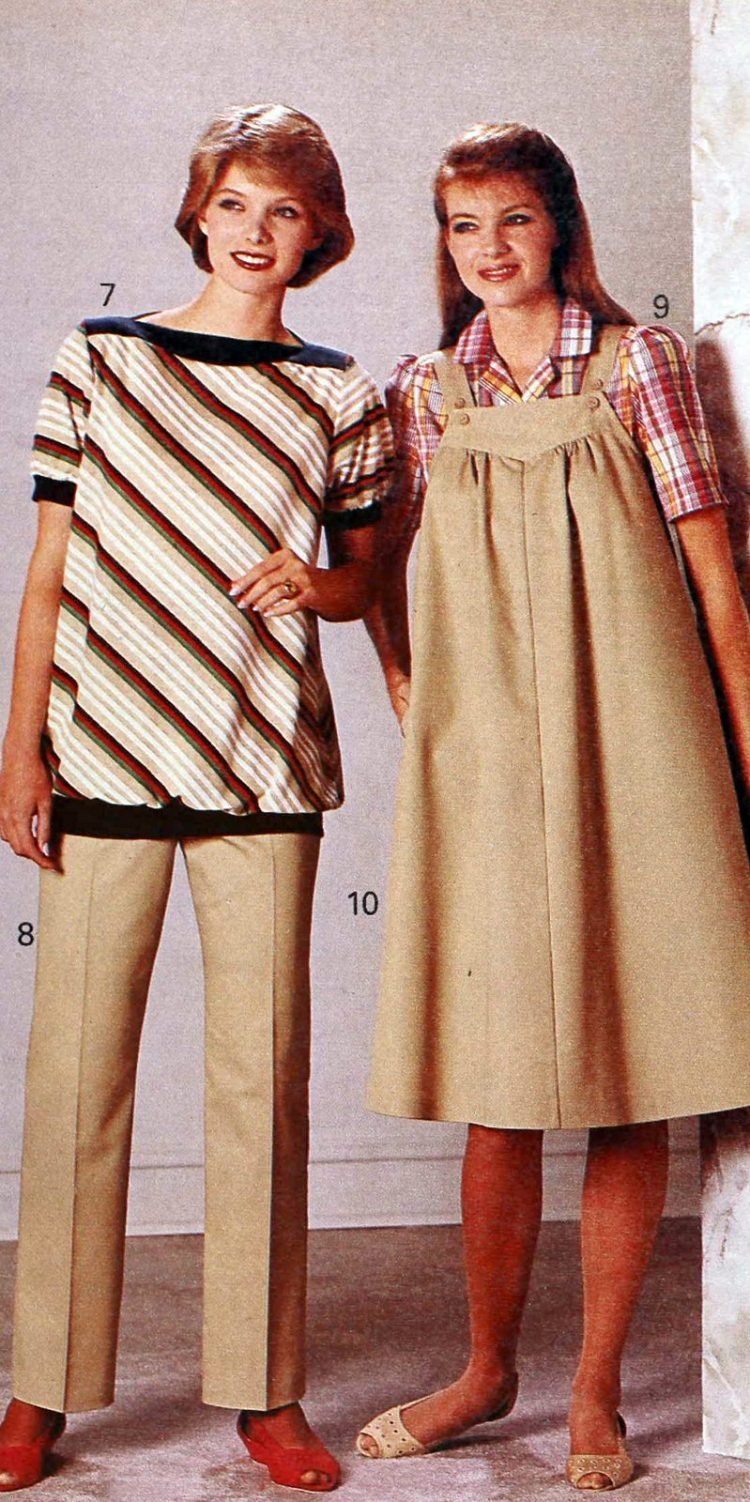 Vintage clothes for pregnant women - 1980s maternity fashion (5)