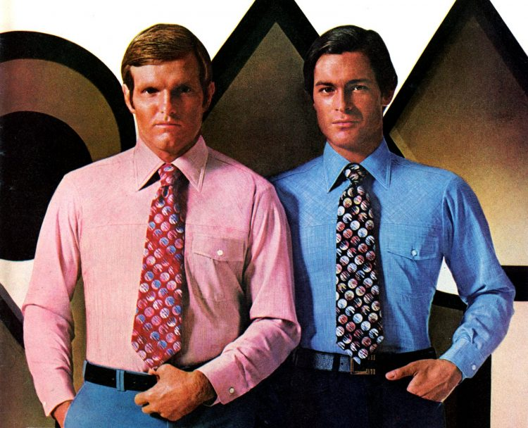 Vintage clothing for men from 1976