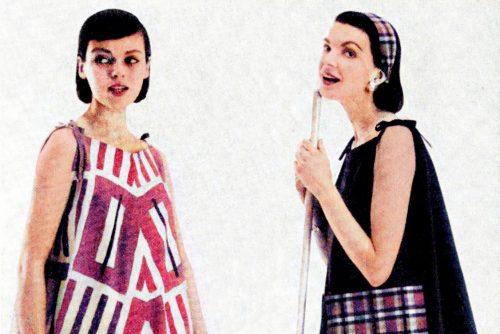 Vintage clothing - sewing - Easy jiffy-make ponchos (1955)