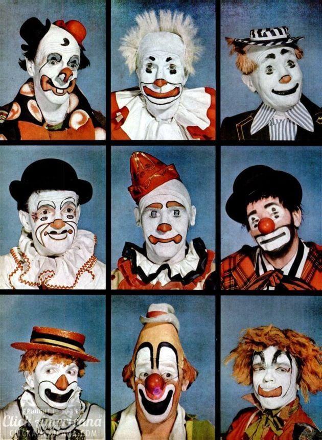 Clowns: Makeup an artistic expression (1949)