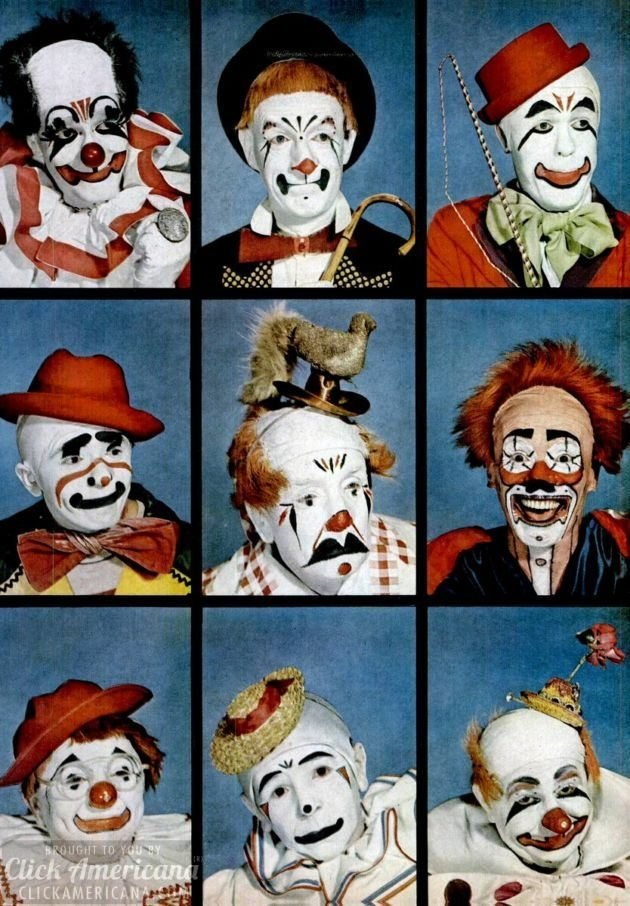 Vintage clown makeup - Life 1949 (2)