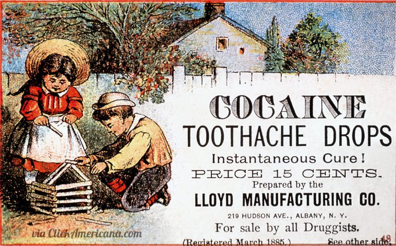 Vintage cocaine tooth drops (1885)