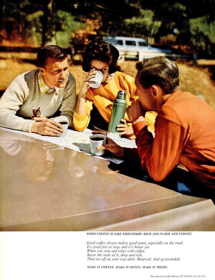 Vintage coffee break ad from 1962