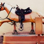 Vintage coin-operated horse ride