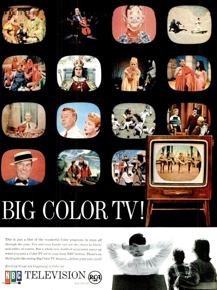 Vintage color TV from 1956 (1)