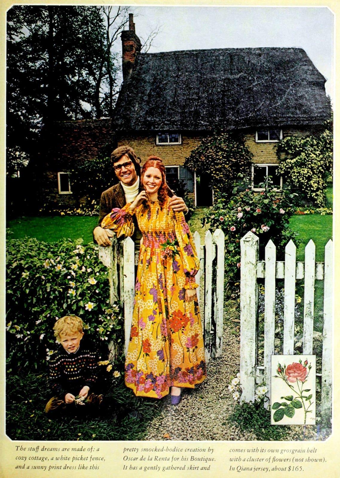 Vintage colorful Quana dress (1971)