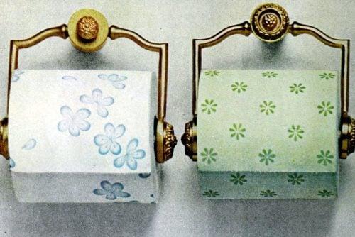 Vintage colorful toilet paper