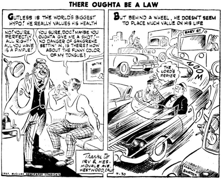 Vintage comic panel 1957 - There Oughta Be a Law