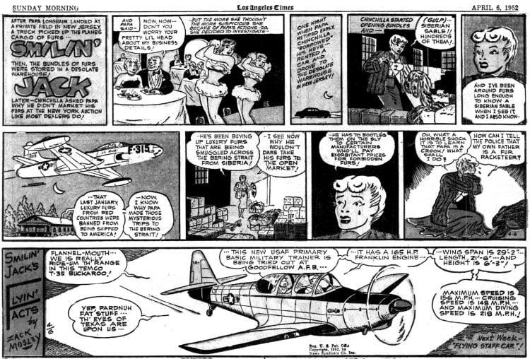 Vintage comic strip 1952 - Smilin Jack