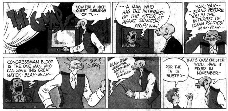 Vintage comic strip 1956 - The Gumps