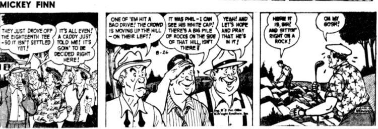 Vintage comic strip 1957 - Mickey Finn