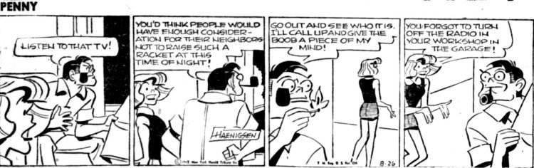 Vintage comic strip 1957 - Penny