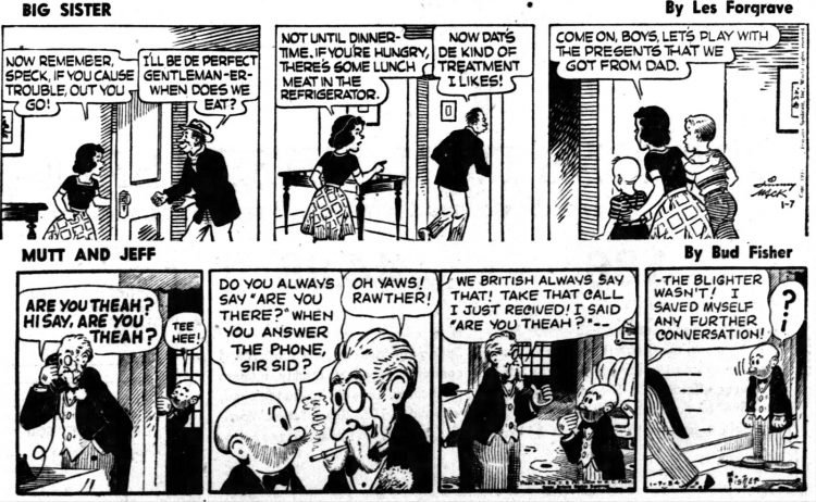 Vintage comics from the '50s Big Sister and Mutt and Jeff - Daily Independent Journal Jan 7 1954