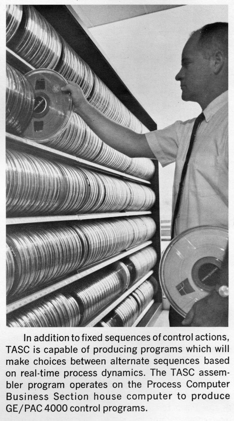 Vintage computer programming on tape reels - Computers in the 1960s
