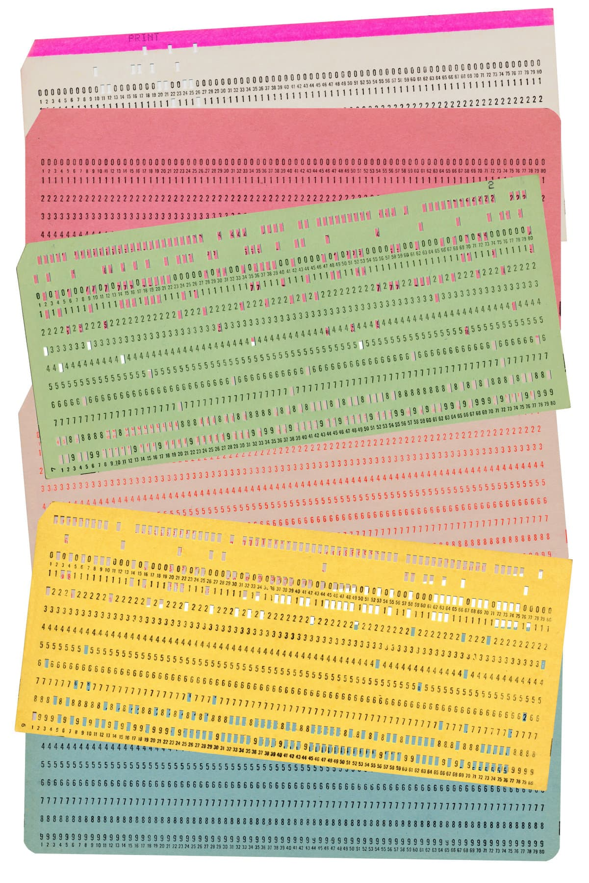 Vintage computer punch cards