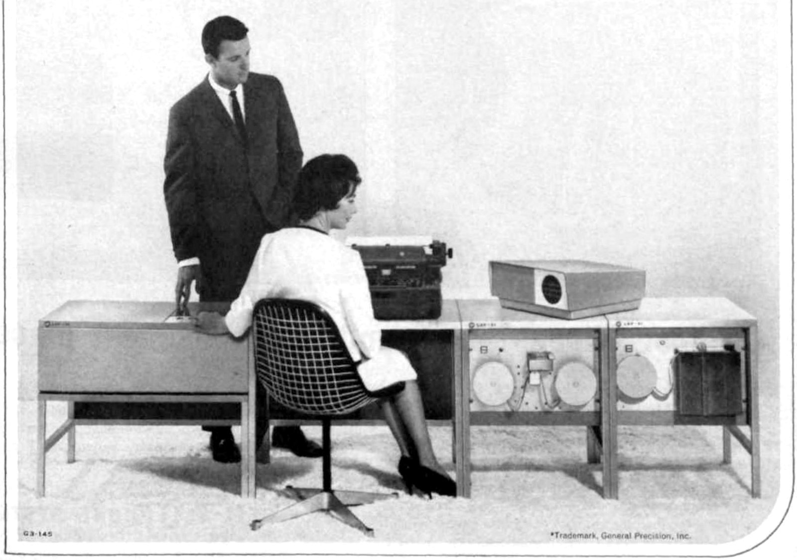 Vintage computers in business offices (1963)