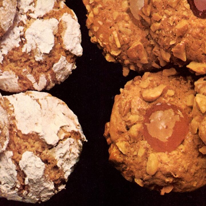 Vintage cookie recipes - 1982 - Jam thumbprints and spiced crackle cookies (2)