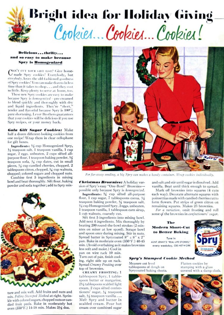 A Collection Of Classic Christmas Cookies Amp Treats 1950s