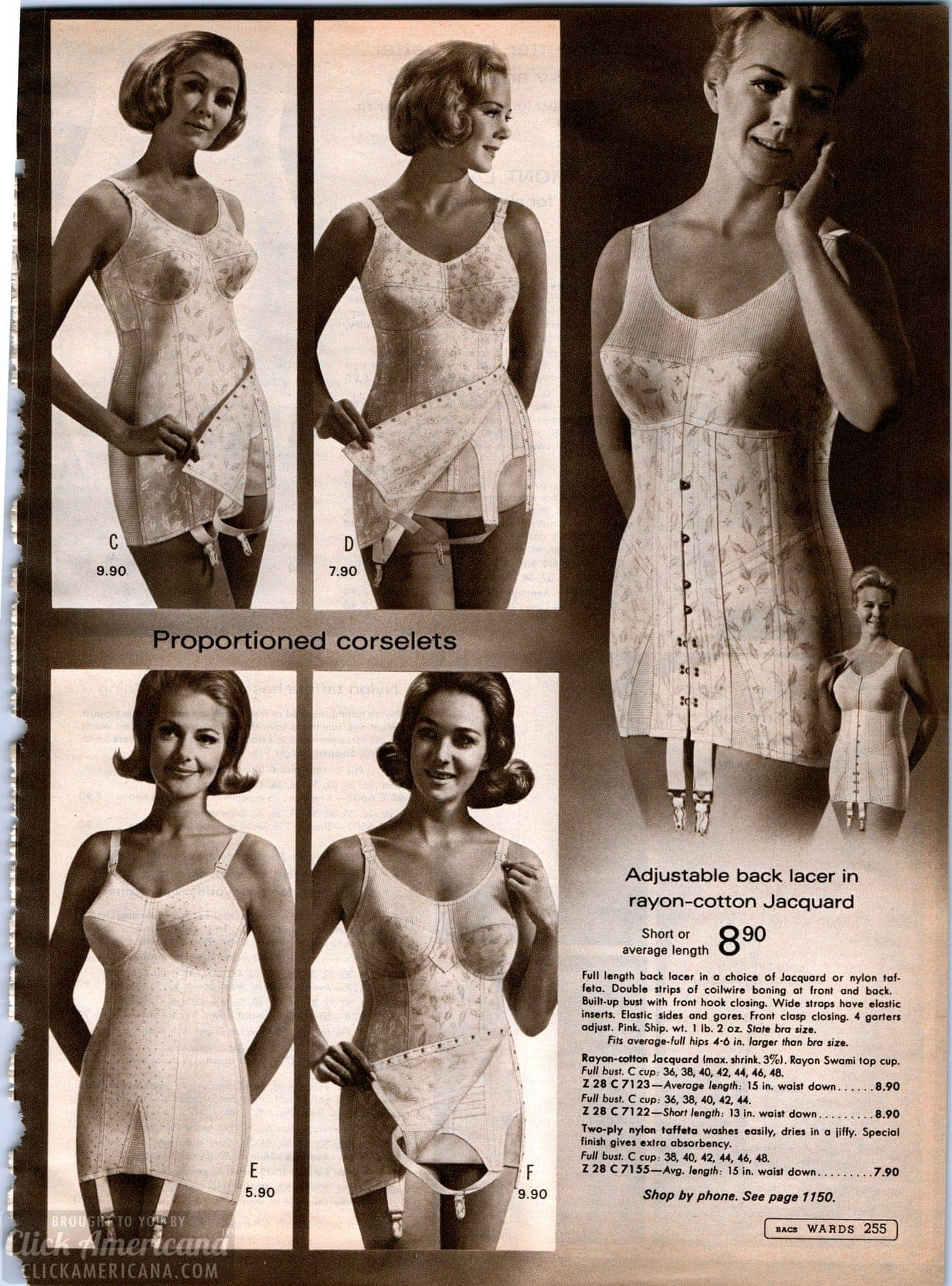 57da7638ccf Vintage corselets - body shapers from the  60s - Click Americana