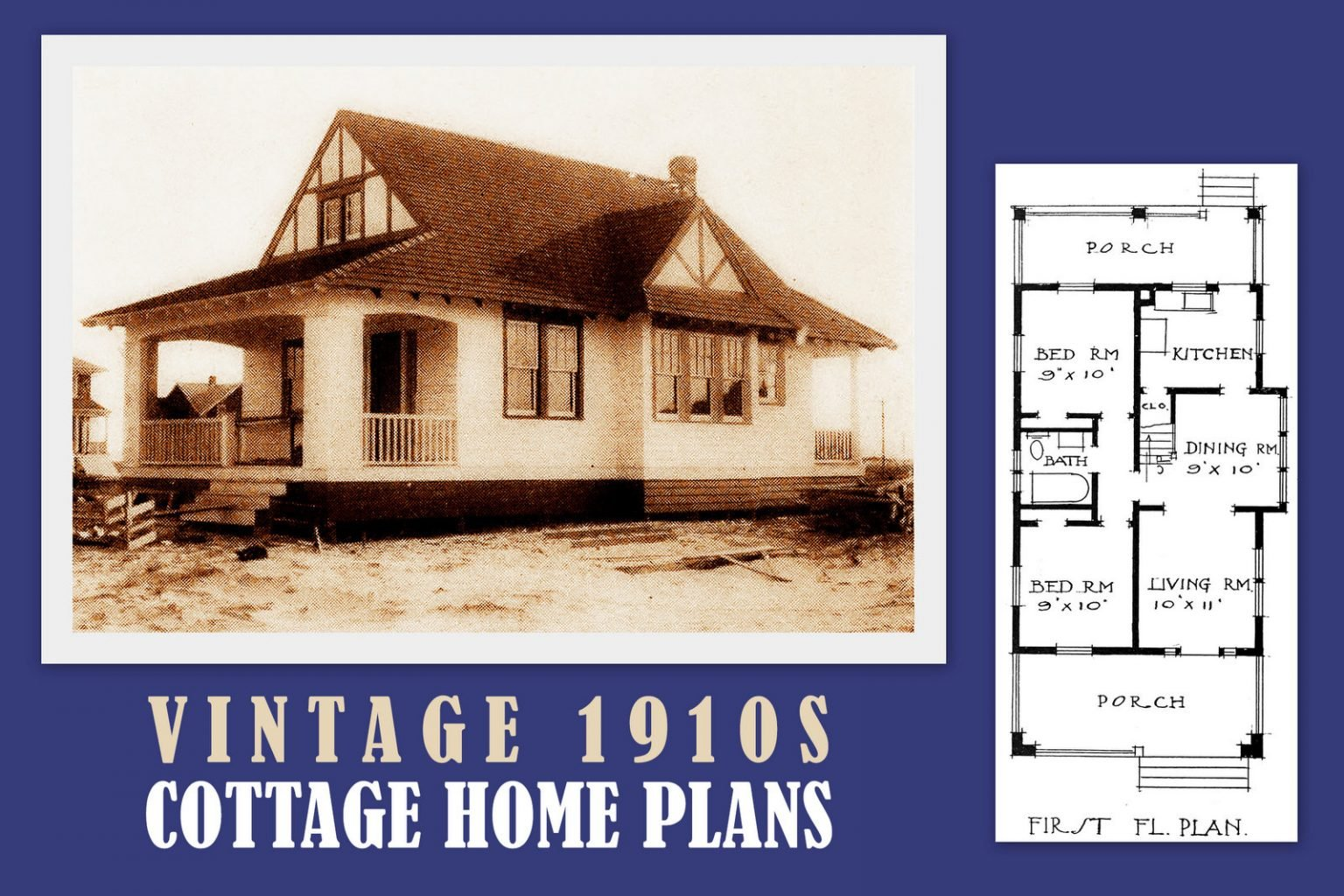 Vintage cottage home plans from 1910