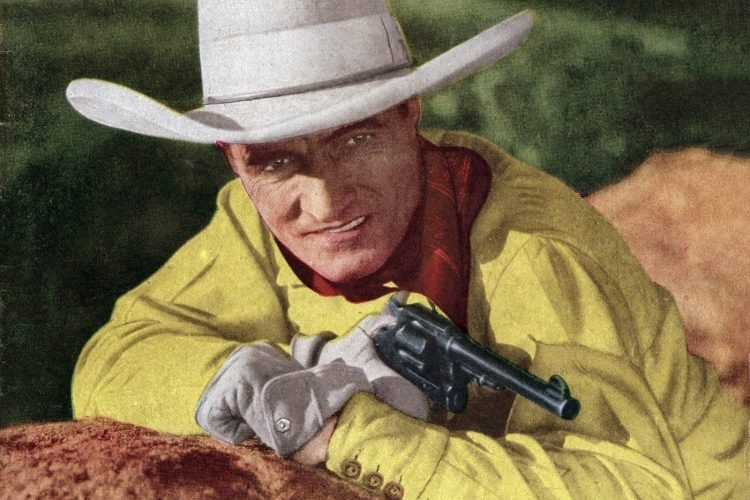 Vintage cowboy actor Tom Mix - Silent film era (2)