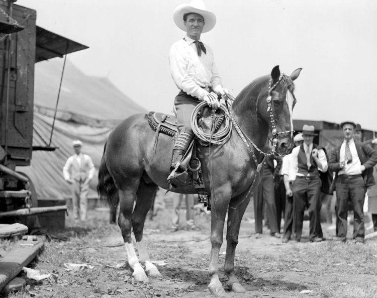 Vintage cowboy actor Tom Mix - Silent film era (5)