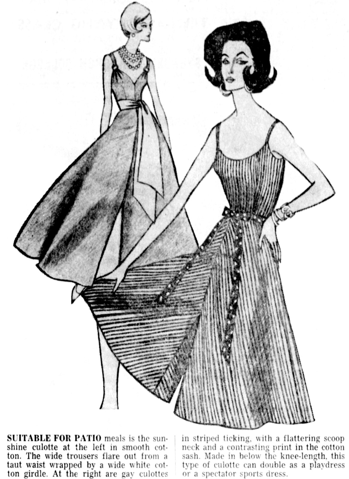 Vintage culottes The pants that looked like skirts (1960)