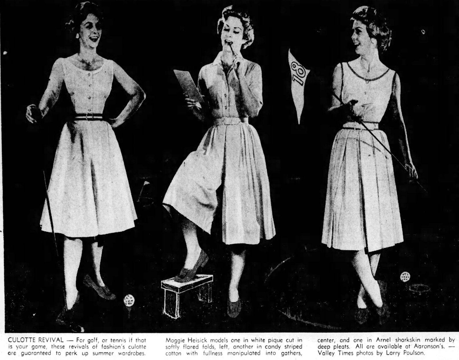 Vintage culottes styles from 1960