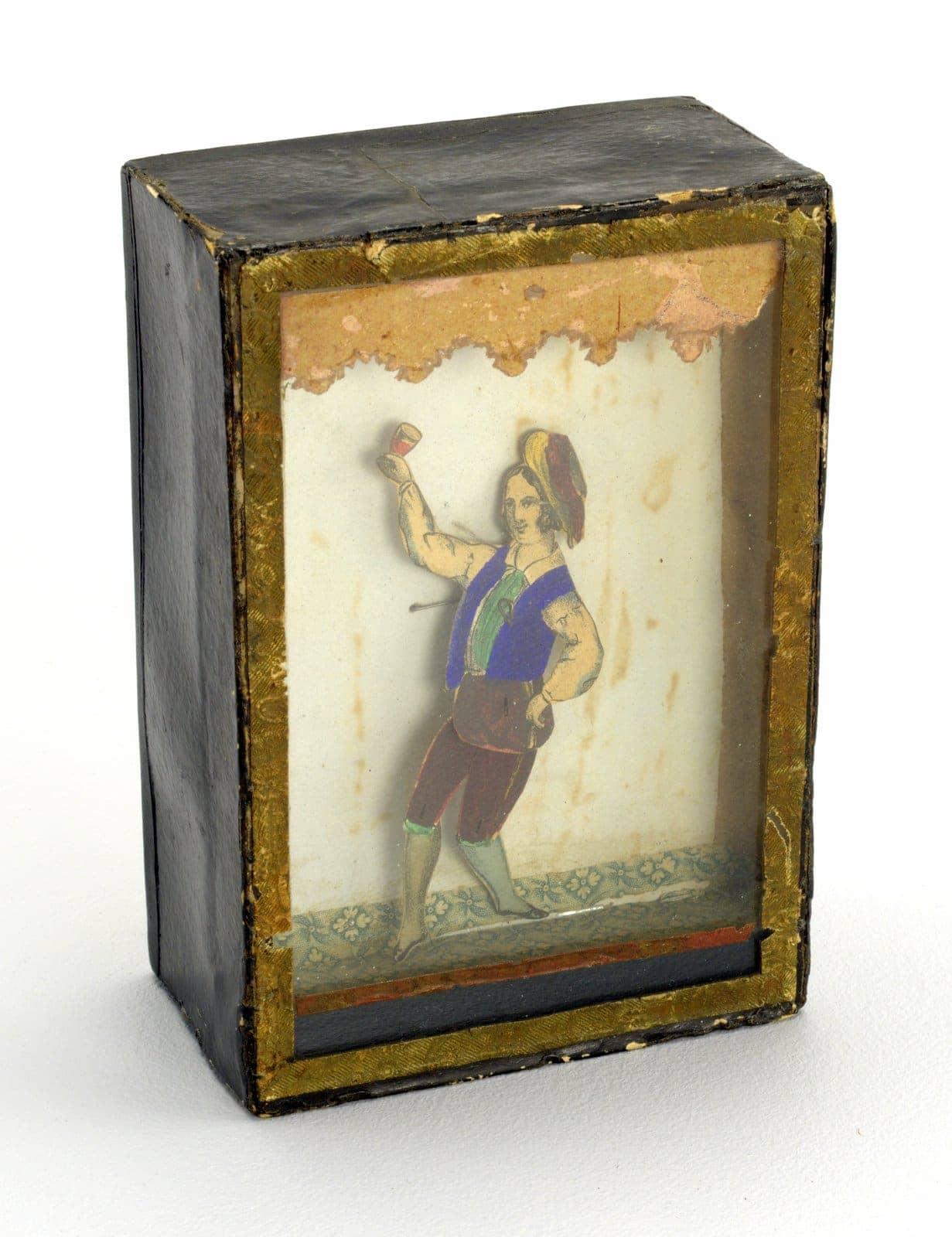 Vintage dancing man toy 1840s