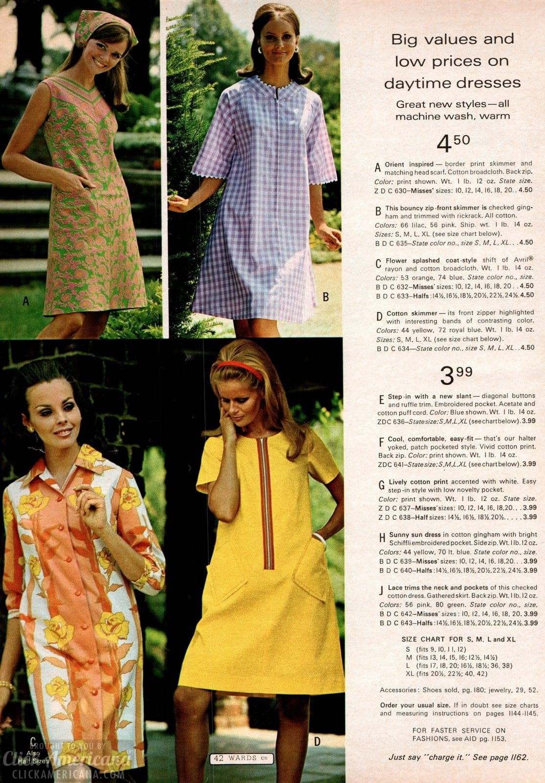 Vintage daytime dresses - skimmers, sundresses and more