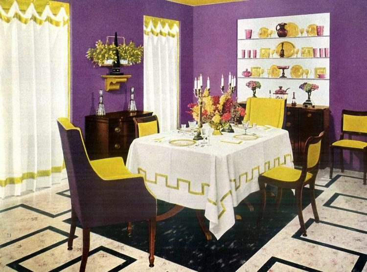 Vintage decor - Curtains and drapes from the 50s (1)