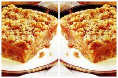 Vintage dessert - Caramel apple oat squares